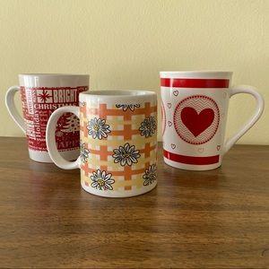 3 vintage mugs